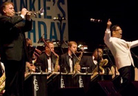 Book George Gee Ballroom Orchestra & Big Band for your next corporate event, function, or private party.