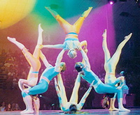 Book American Acrobats-Castle Productions for your next corporate event, function, or private party.