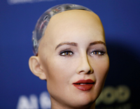 Book Sophia the Robot for your next corporate event, function, or private party.