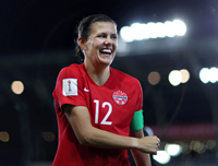 Book Christine Sinclair for your next corporate event, function, or private party.