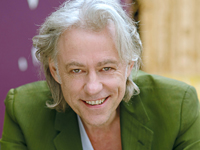 Book Bob Geldof-Sir Robert Geldof for your next corporate event, function, or private party.