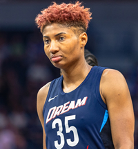 Book Angel McCoughtry for your next corporate event, function, or private party.