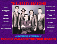 Book Jersey Seasons - Frankie Valli and the Four Seasons Tribute for your next corporate event, function, or private party.
