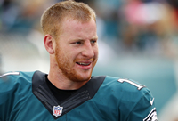 Book Carson Wentz for your next corporate event, function, or private party.